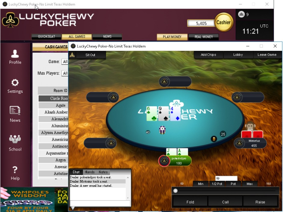 Lucky Chewy Poker Pro Aims To Appease Community With New Low Rake Poker Room Poker Industry Pro