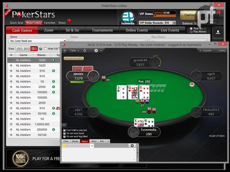 на онлайн покер pokerstars деньги