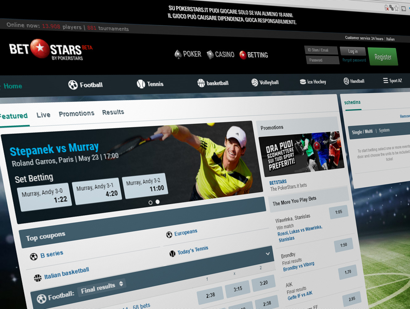Pokerstars sports betting betting nba preseason