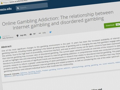 Addiction gambling academic biloxi ip casino entertaiment